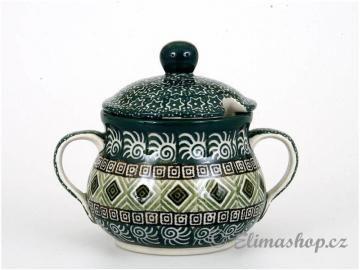 cukřenka - ELIMAshop.cz sugar bowl  Handmade Polish Pottery from Boleslawiec Nice green pattern