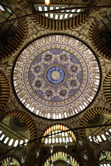 Ceiling of Selimiye Mosque, Turkey