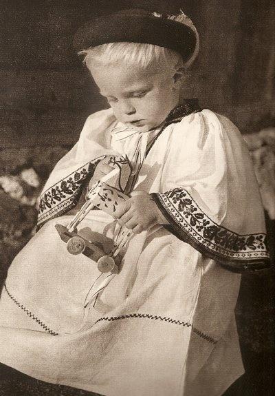 child in folk costume