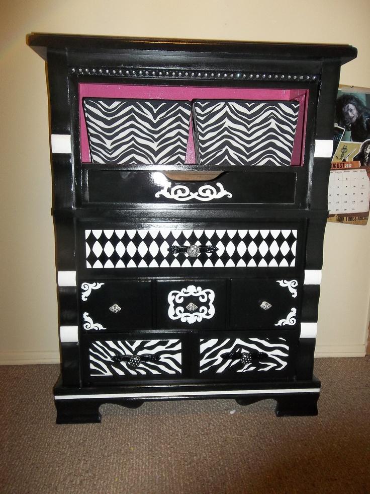 The dresser for our zebra room