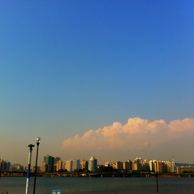 Han river in Korea