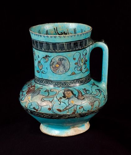 Unknown, Persian  Pitcher with birds, arabesques and sphinxes, 13th Century  Persian Ceramics