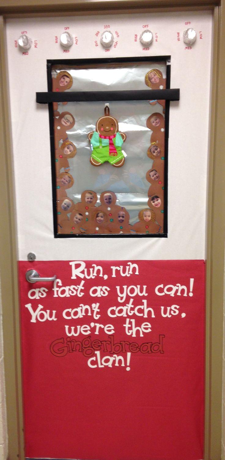 Christmas Gingerbread Man Classroom Door Decoration | Pre ...