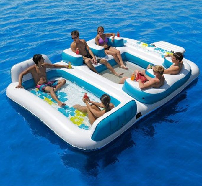 6 Person Inflatable Floating Island | Cool Feed.me - Cool Stuff To Buy And Drool Over