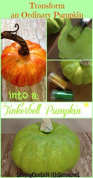 How to make a DIY Tinkerbell #Pumpkin #disney #halloween