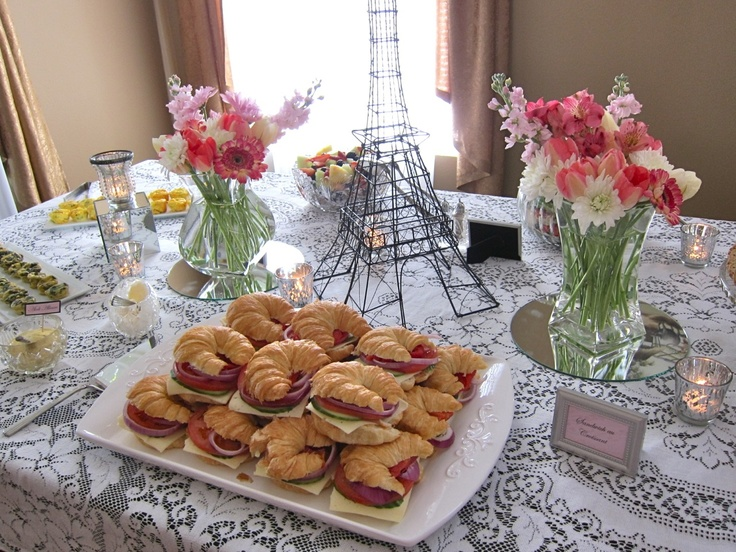 Chic French Bridal Shower Spring 2013 - Eiffel Tower & Mini Croissants