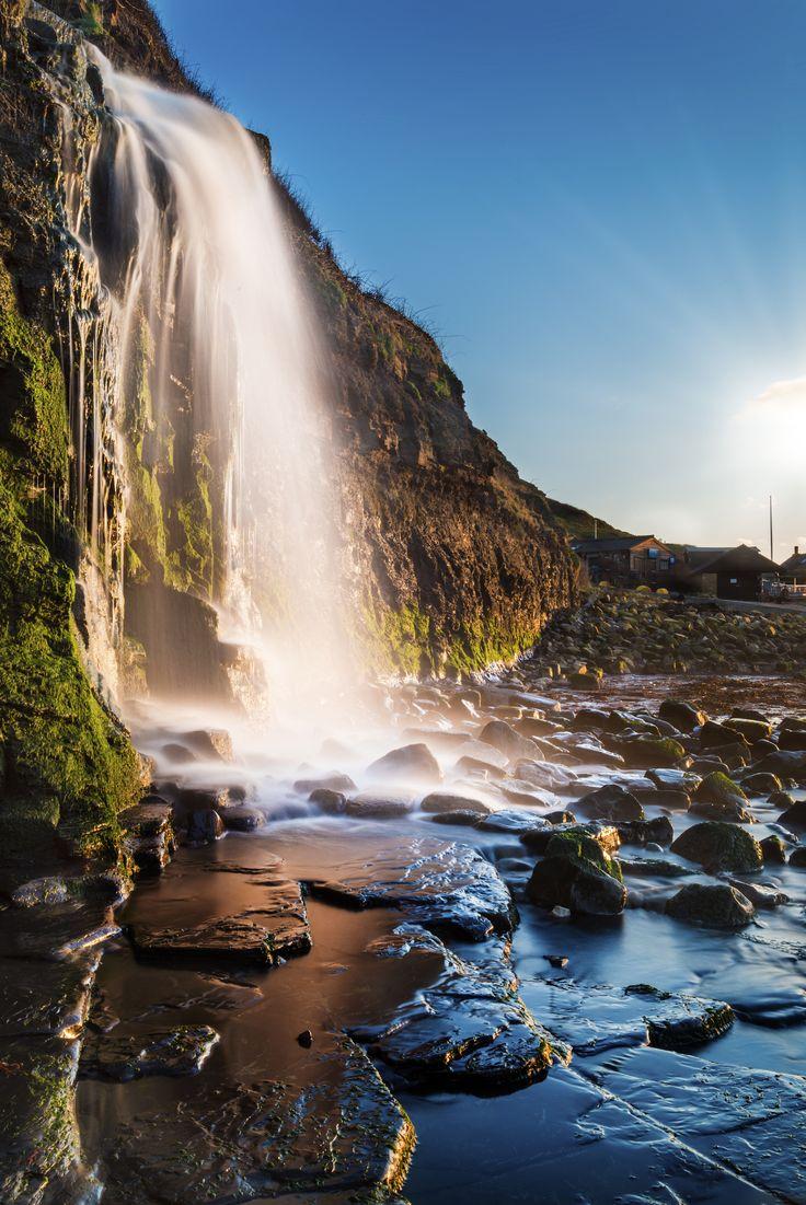 The waterfall at Kimmeridge Bay, Dorset.