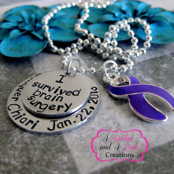 Custom Hand Stamped Chiari Malformation by BushelPeckCreations, $25.00