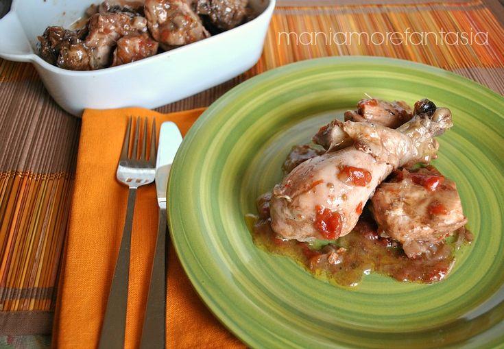 Pollo in umido in pentola a pressione