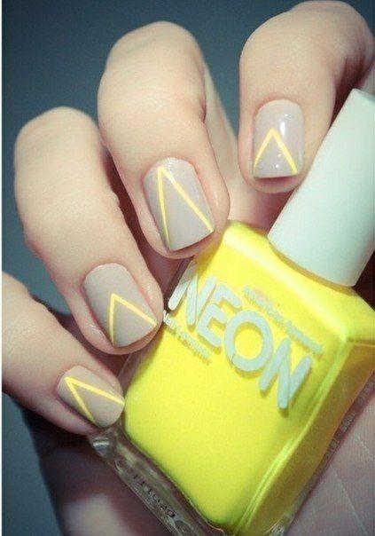 neon nails #yellow #bright #nails #summer