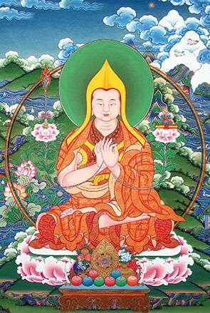 The path delighting all the buddhas ~ Lama Tsongkhapa http://justdharma.com/s/qtu7l  The one who sees that cause and effect operate infallibly  For all the phenomena of saṃsāra and nirvāṇa,  And for whom any objects of conceptual focus have subsided,  Has set out upon the path delighting all the buddhas.  – Lama Tsongkhapa  Three Principal Aspects of the Path  source: http://www.lotsawahouse.org/tibetan-masters/tsongkhapa/three-principal-aspects