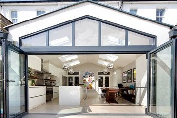 Pitched Roof Rear Extension Design Ideas, Pictures, Remodel and Decor