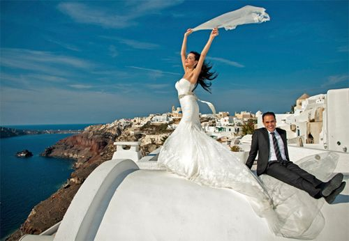 Santorini wedding packages,low cost prices for wedding packages