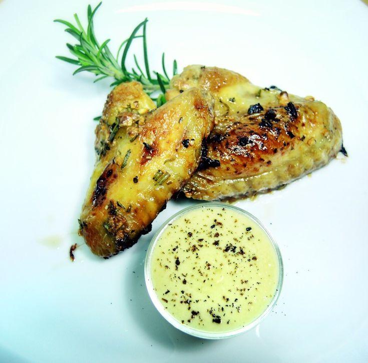 Chicken Wings mit Rosmarin-Ahornsirup