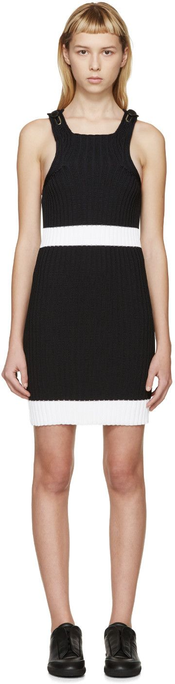 CALVIN KLEIN COLLECTION Black Fitted Winslow Dress. #calvinkleincollection #cloth #dress