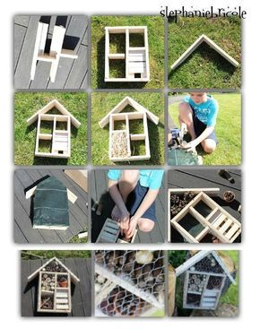 diy nichoir à insecte, faire soi même maison à insectes: