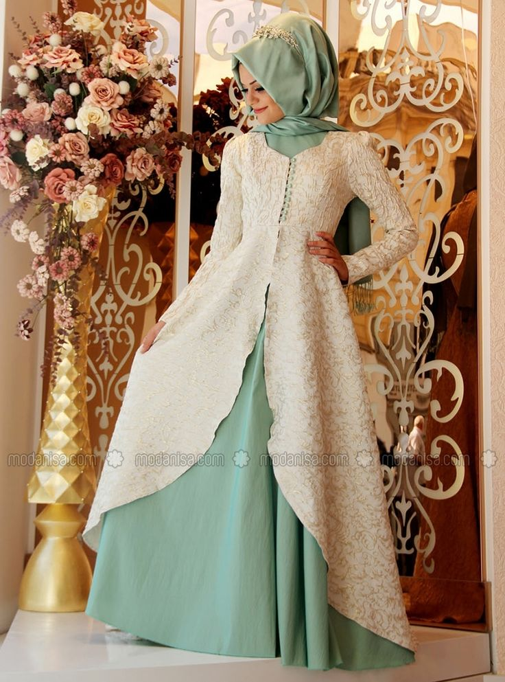 Orchid Evening Dress - Mint - Gamze Polat