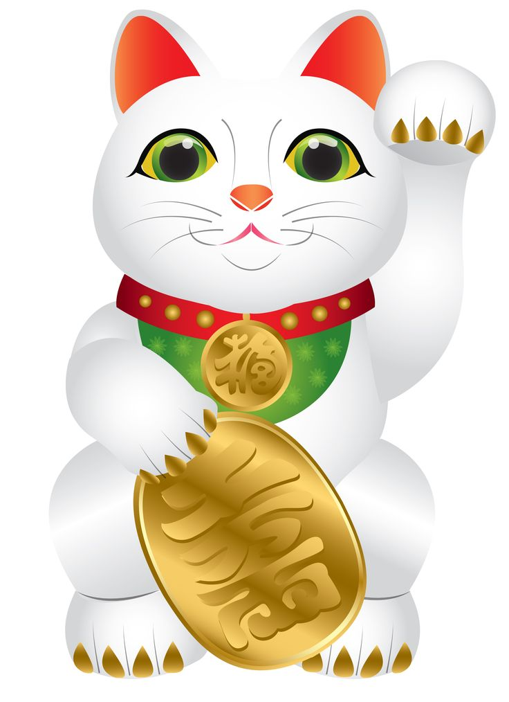 lucky cat - original design created on illustrator