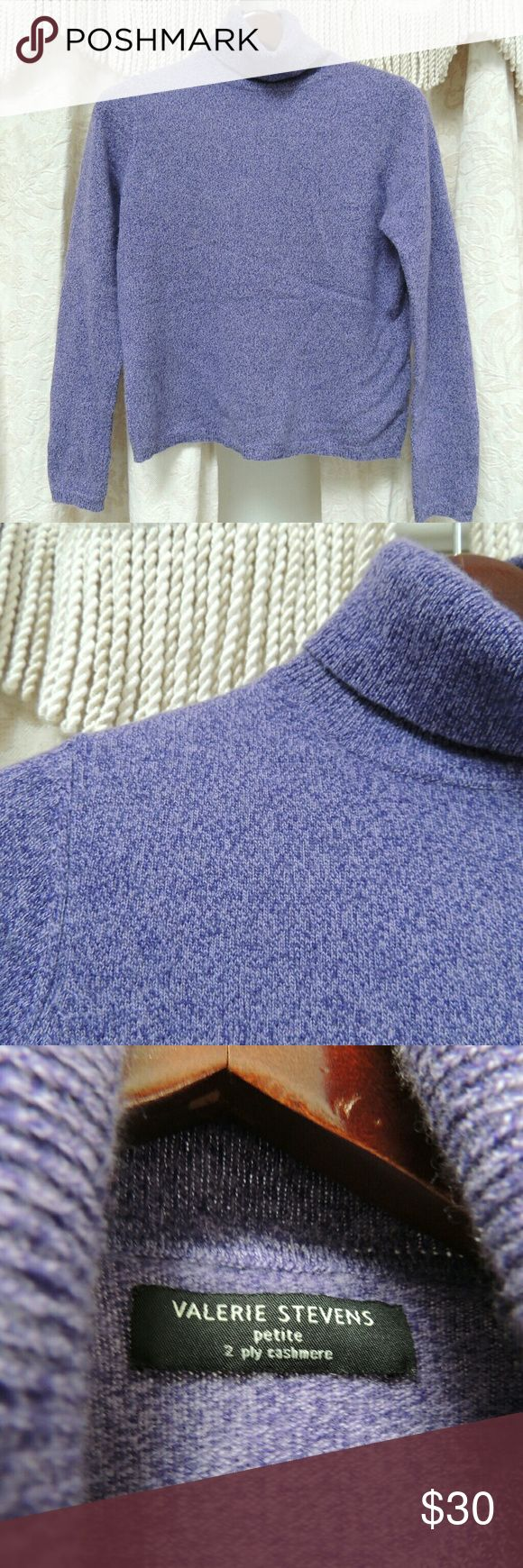 100% cashmere turtleneck sweater Purple cashmere turtleneck.  Very soft and cozy. Valerie Stevens Sweaters Cowl & Turtlenecks