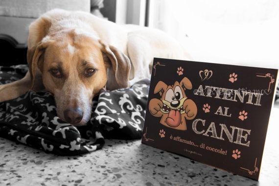 Lavagnetta Attenti al cane decorativa e di Lavagnettiamo su Etsy