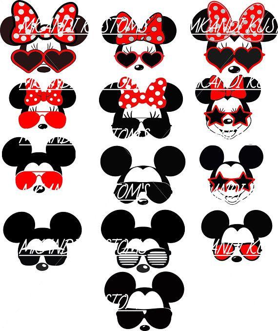 Minnie Mickey Sunglasses/Disney Svg/Mickey Mouse Head Svg ...