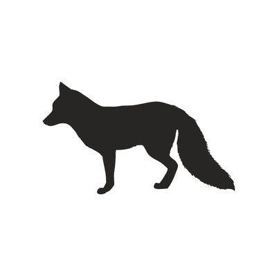 Alphabet Garden Designs Forest Critter Chalkboard Fox Vinyl Wall Decal   Wayfair