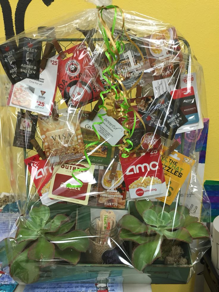 "Silent auction ""date night"" gift basket"