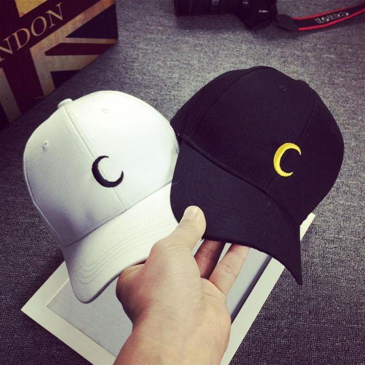 Луна Вышивка 2016 Новая Мода Бейсболки Женщины Мужчины Хлопок Черный Белый Snapback Шляпы Для Мужчин Gorras Hombre, Casquette Femme купить на AliExpress