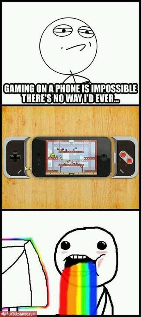 Gaming on a phone