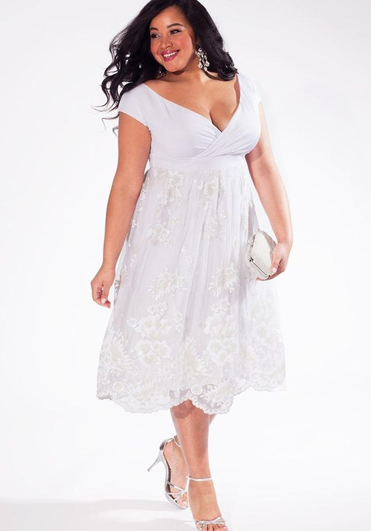 17 best images about plus size woman dress on pinterest for Plus size hawaiian wedding dresses