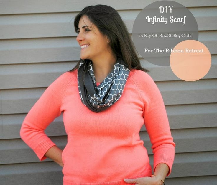 DIY Infinity Scarf tutorial.  These make great teacher gifts!