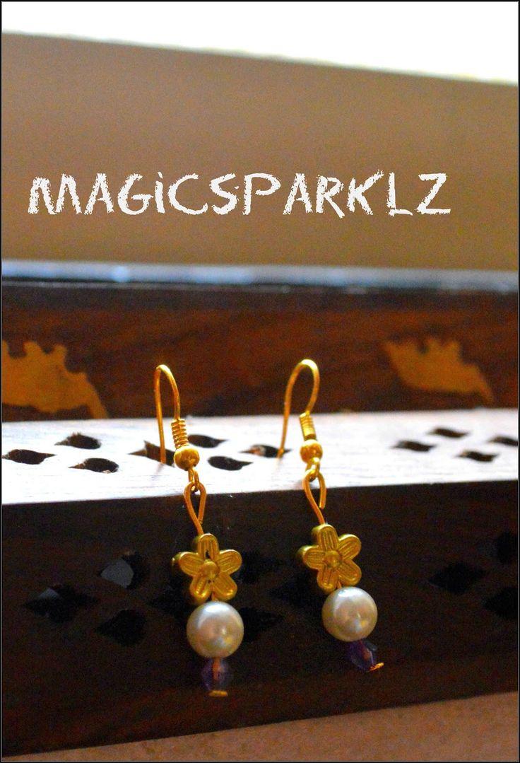 DIY easy bead earrings