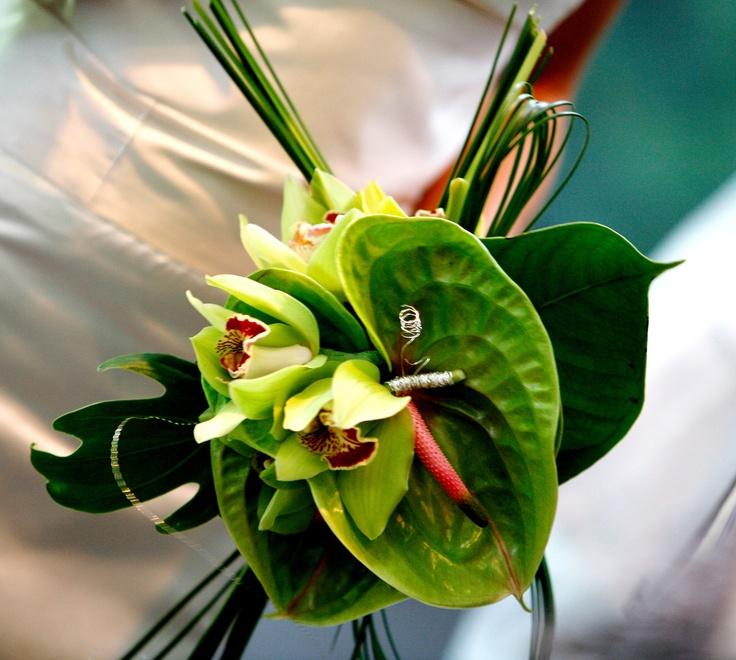 Букет, антуриум зеленый букет невесты фото