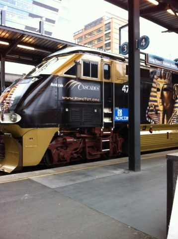 2012 Seattle's Amtrak Train advertising the only North American King Tut Exhibit - very cool!
