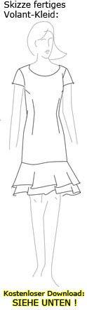 Gratis-Schnittmuster.de: Schnittmuster Volant-Kleid kostenlos Gr. 38/40
