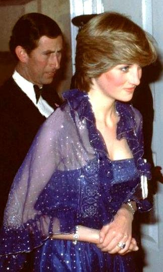 23 June 1981 Lady Diana attends a function at the Royal academy with her fiancé Prince Charles