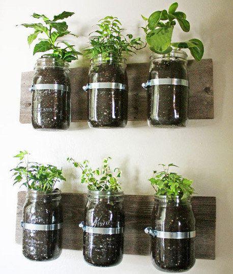 Vaso em pote de vidro. | 30 jeitos de decorar sua casa como você nunca imaginou (e com apenas R$10)