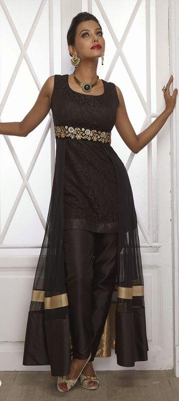 Skirt with a #salwarKameez? Get this look.  #Déjàvu #Partywear #Slit #IndianWedding #IndianFashion #Sheer