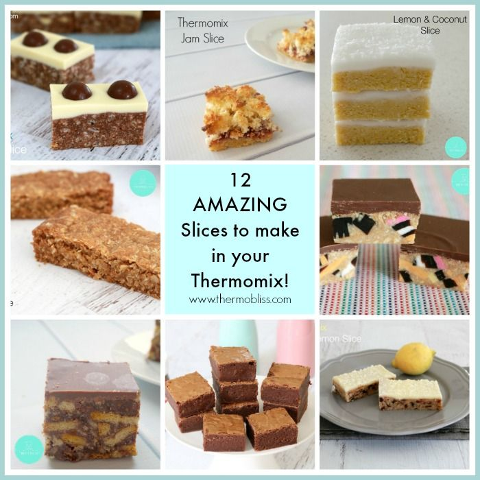 Today I thought I'd share a collection of some of the best Thermomix Slice Recipes you just HAVE to make! Just try to stop yourself at one piece!