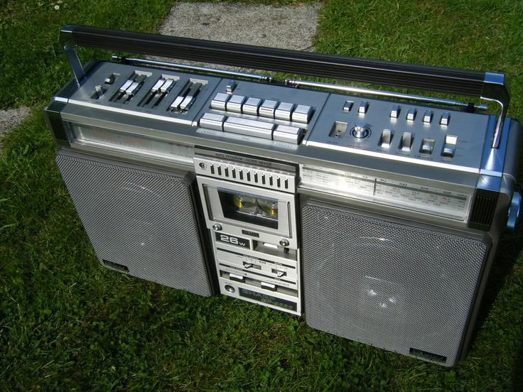 Got the Sharp GF-9696 boombox back in 1984 and had it for almost 20 years. It was all a boombox should be, big, heavy (especially when loaded with 10 size D batteries!) and loud.