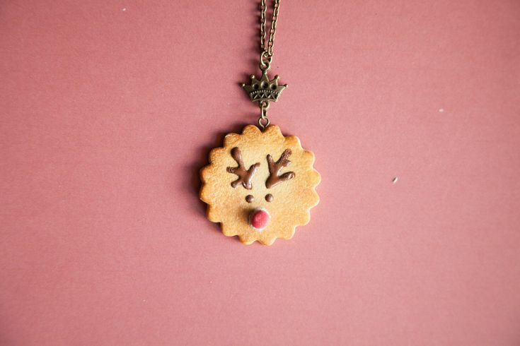 Ilianne | Jewelry Made of Love - Rudolph Cookie Pendant