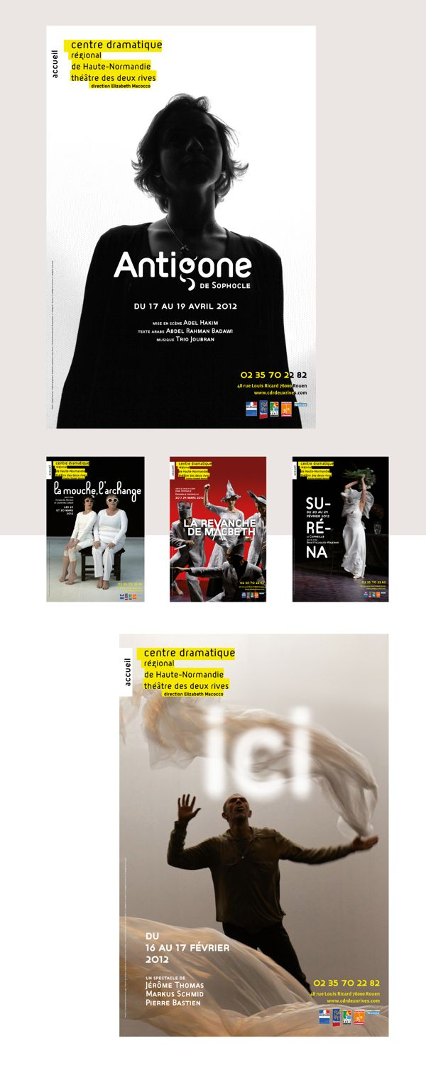 Théâtre des deux Rives - Editorial & Poster Design on Behance