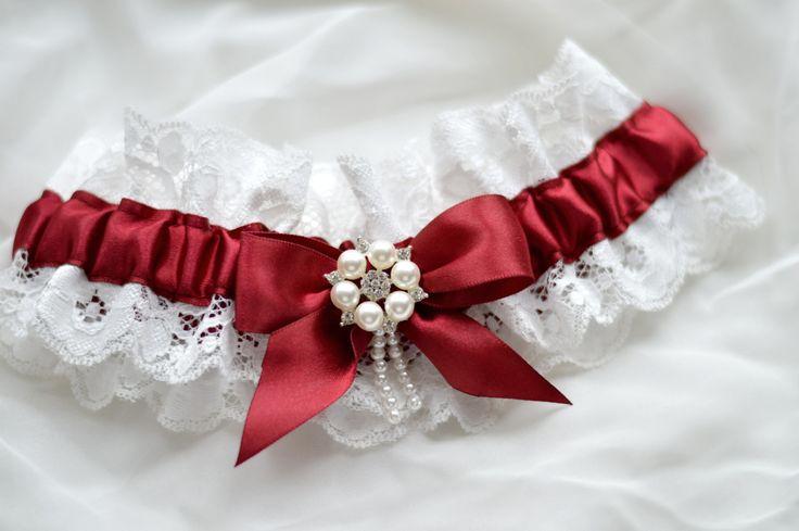 Подвязка для невесты «Марсала» — Счастливая Пуговица, свадебные аксессуары и украшения