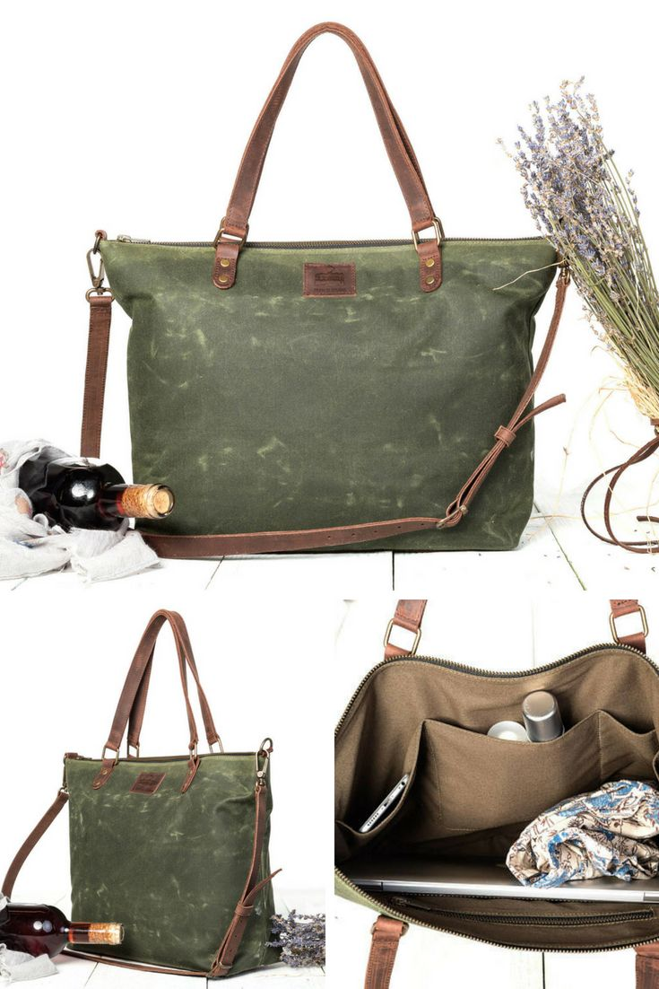 This Is A Handbag And Cross Body Bag Made Of Waxed Canvas Perfect As Work It S Very Light Fits 13 Laptop