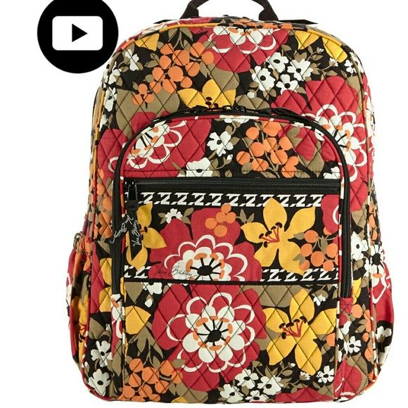 """Vera Bradley: Laptop Backpack Bitter Sweet Pattern Brand New With Tags Laptop Backpack (Not the """"Campus Backpack""""  11 1/4"""" W 16 """"       H 6 1/2 """"  D  32"""" Adjustable Strap  2"""" Handle Drop  Getting ready for those """" Back to School"""" specials...  Available Now Just $75 Vera Bradley Bags Backpacks"""
