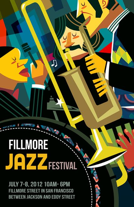 Poster Design - Jazz Festival - Ping Hua Illustration, 2012 http://pingillustration.co/Poster-Design-Jazz-Festival