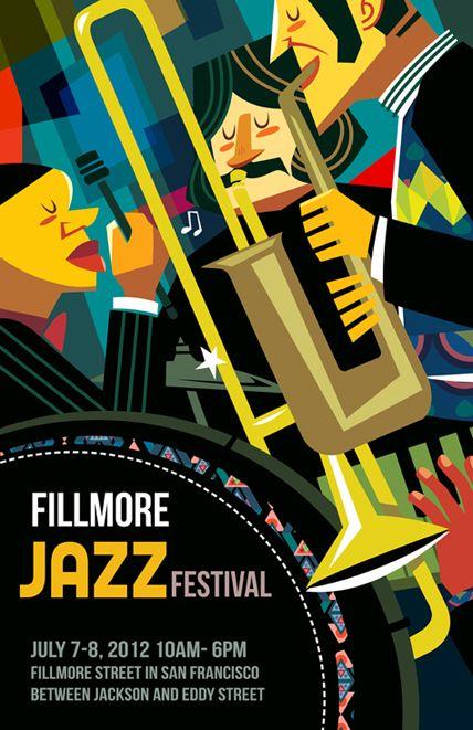 Poster Design - Jazz Festival - Ping Hua Illustration, 2012 http://pingillustration.co/Poster-Design-Jazz-Festival