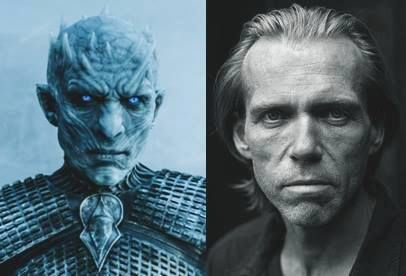 Richard Brake as the Night's King and out of make-up