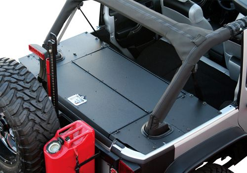 Aries Off-Road Jeep Wrangler AlumaLite Security Cargo Lid - JK...This lid creates a large, lockable storage area. Made from lightweight aluminum, it mounts to models equipped with or without a hardtop or subwoofer.