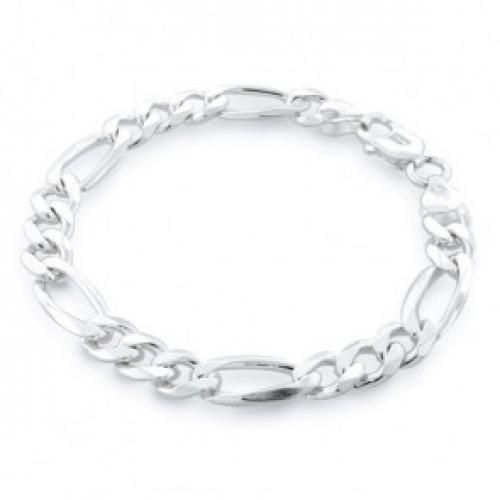 Bling Jewelry Sterling Silver Marina Link Mens Bracelet 8 Inch